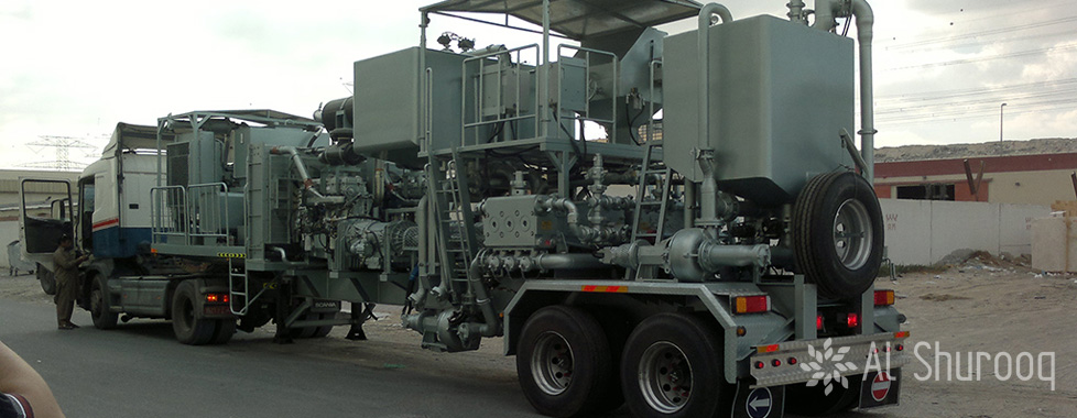 Twin Pump Cementing Unit With Mixing Tank 2
