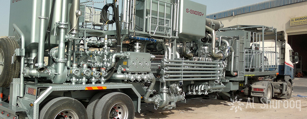twin pump cementing unit with mixing tank 4