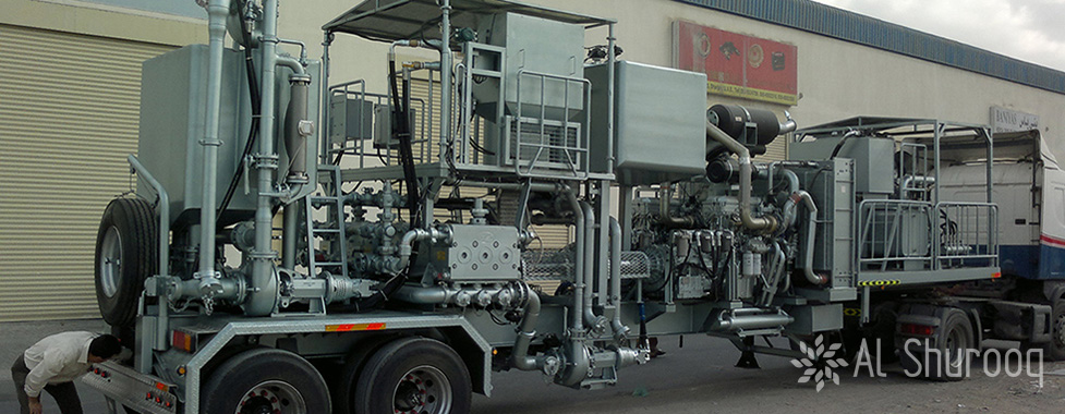 Twin Pump Cementing Unit With Mixing Tank