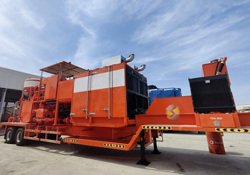 Twin Cementing Unit With Sound Enclosure